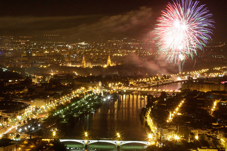 Fuegos artificiales Feria de Abril 2019