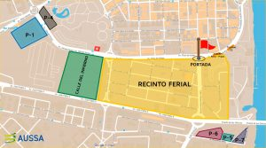 Mapa Parking Abonados Feria de Abril Sevilla 2019