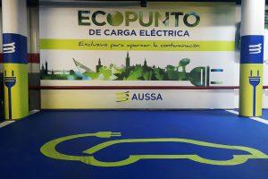 Plaza para vehículos eléctricos